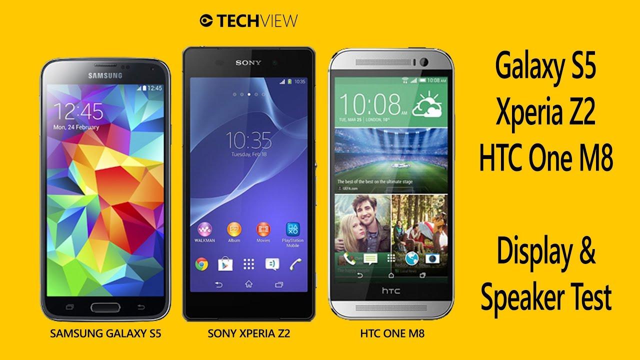 HTC One M8 vs Xperia Z2 vs Galaxy S5 - Display + Speaker ...Htc One Max Vs Galaxy S5