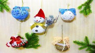 Елочные игрушки своими руками  новогодние игрушки на елку