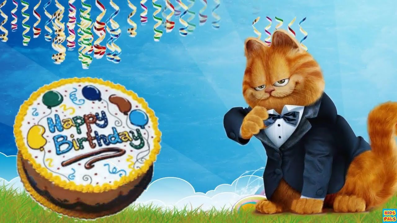 Garfield Happy Birthday Song For Children Nursery Rhymes Songs For Kids Youtube