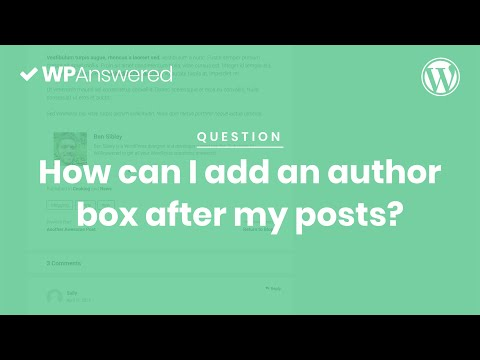 How to Show an Author Box After WordPress Posts | WordPress Tutorial