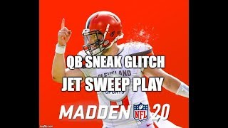 Madden 20 Glitches Cheats and Tips - QB Sneak Glitch - Jet Sweep Play