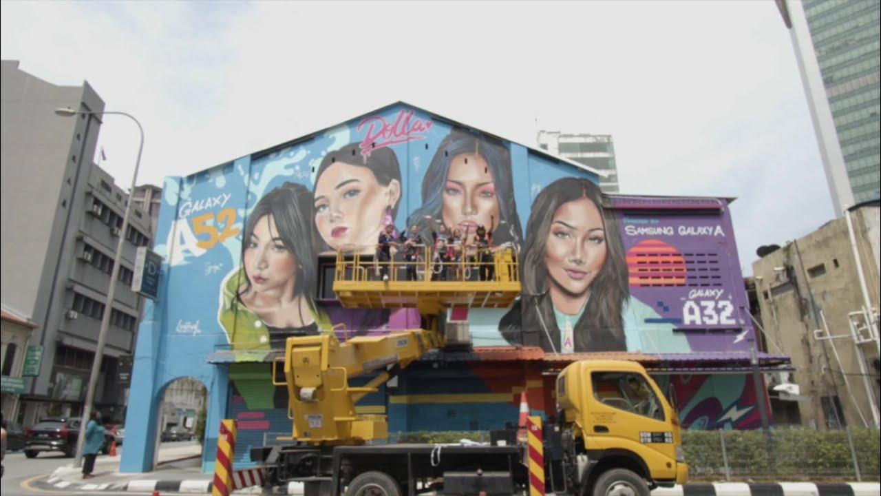 #GalaxyA Inspired Murals