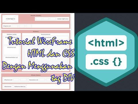 Tutorial Membuat Wireframe Halaman Web Dengan HTML Dan CSS Menggunakan Tag Div