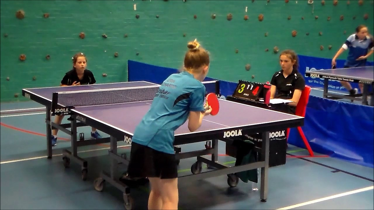 Girl Table Part - 20: 8 years old girl play table tennis