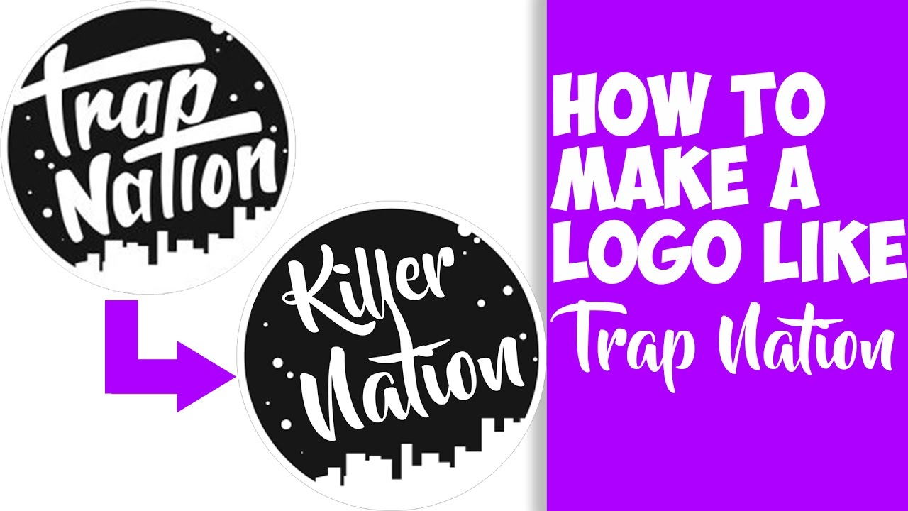 how to make a logo like trap nation easy youtube