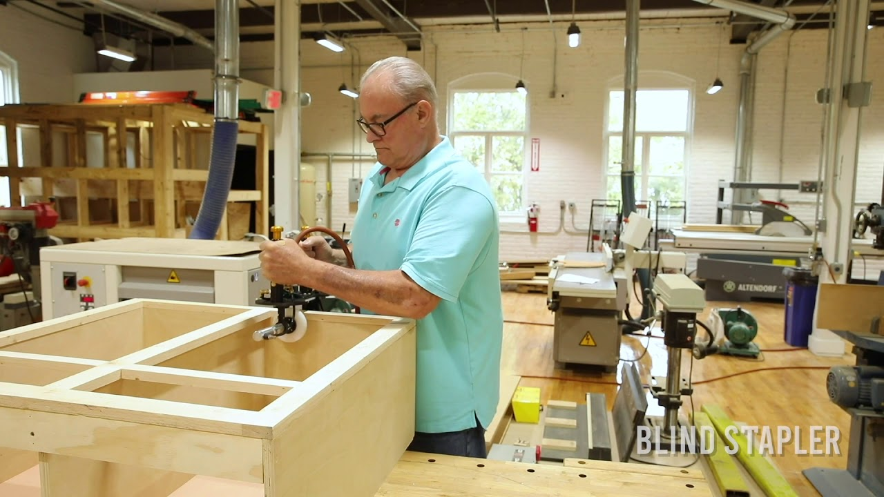 How to Attach A Face Frame To A Cabinet Box Using The BLINDSTAPLER™
