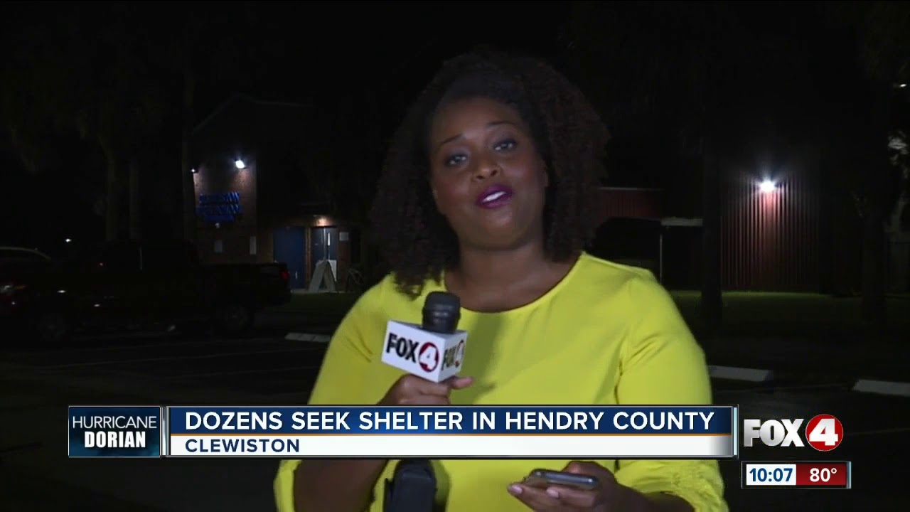 Hendry County residents sheltering at local school