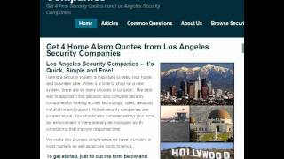 Connect with Los Angeles Security Companies: New Site Provides 4 Quotes for Home Security in LA