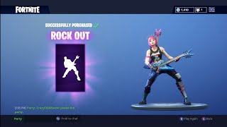 Buying My FIRST Emote! (Rock Out) Fortnite: Battle Royale