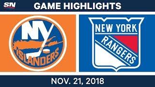 NHL Highlights   Islanders vs. Rangers – Nov. 21, 2018