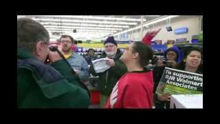 Black Friday demonstration at Walmart in Detroit