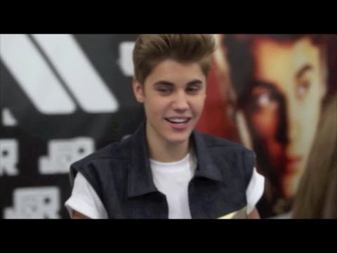 """Justin Bieber Promotes """"BELIEVE"""" in NYC"""