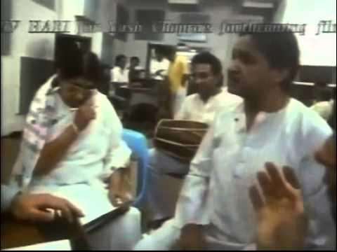 Lata Mangeshkar rehearsals with Hari Prasad Chaurasia and Shiv Kumar Sharma