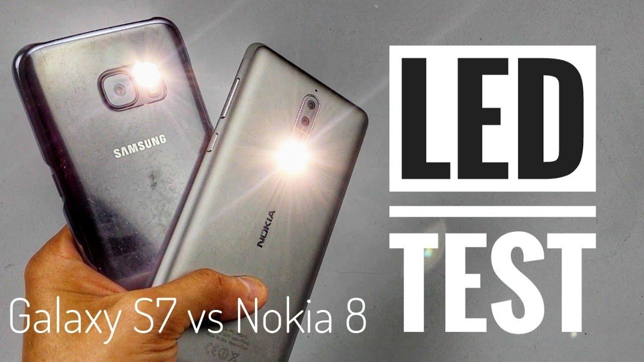Galaxy S7 vs Nokia 8 | LED Latarka Test | ForumWiedzy.pl Bogdan Ligęza