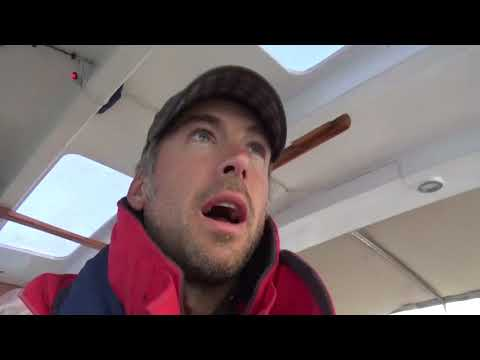 Atlantic crossing leg 1, Portugal to the Canaries,  stormy seas and exhausted crew.