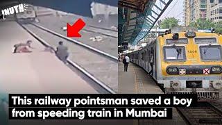 This railway pointsman saved a boy from speeding train in Mumbai