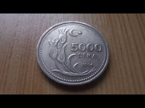 5000 Lira - Coin of Turkey from 1994 in HD