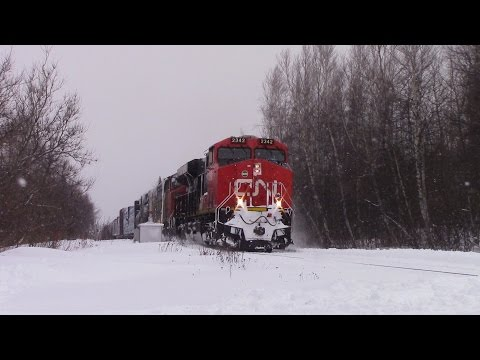 Thumbnail: Post Bizzard of 2015 Railfanning! CN Train 473 at Berry Mills, NB (Jan 28, 2015)