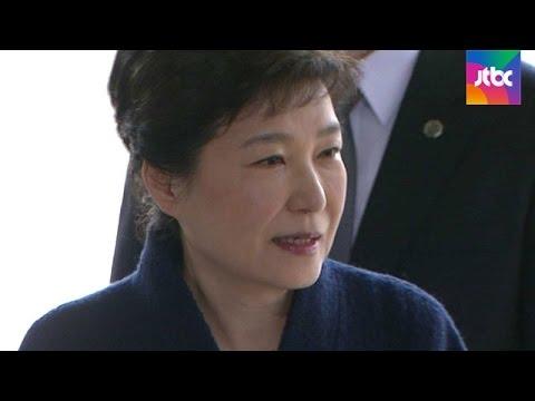 """[현장영상] 박근혜 전 대통령 """"국민께 송구…성실히 조사 임할 것"""""""
