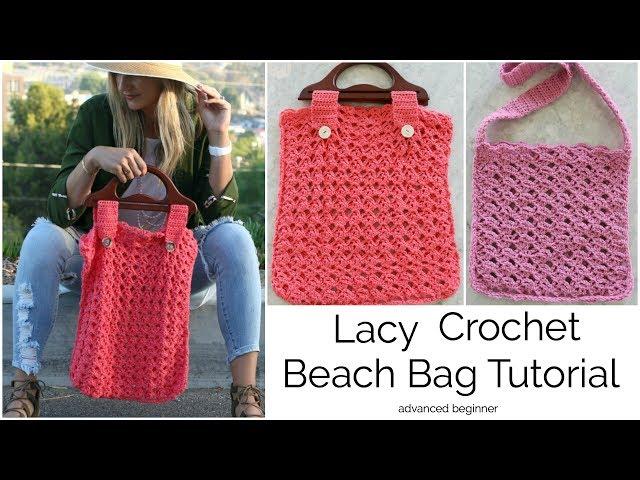 How to Crochet a Lacy Beach Bag