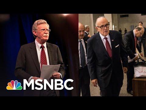 John Bolton, Rudy Giuliani On Short List As Donald Trump