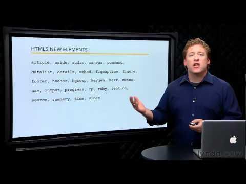 How HTML5 compares to HTML4 | lynda.com