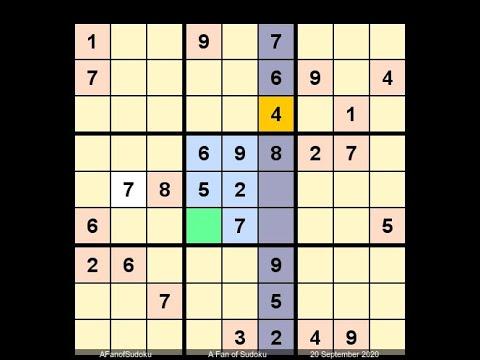 How to Solve New York Times Sudoku Hard September 20, 2020