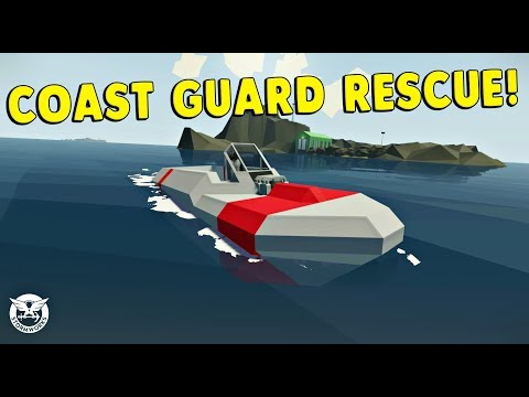 COAST GUARD VEHICLE BUILDER GAME! - Stormworks: Build and Rescue Gameplay - First Impression