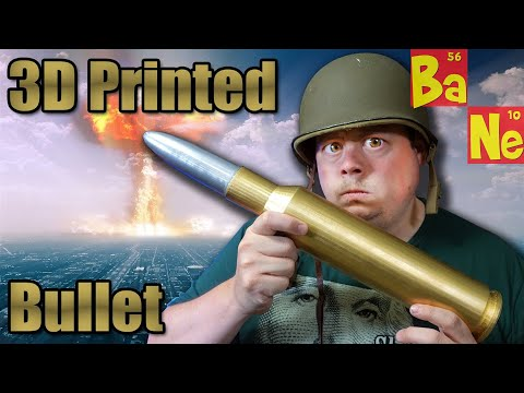 3D Printing Giant Russian .50 Caliber Sniper Rifle Round