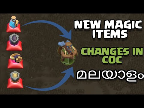 NEW MAGIC ITEMS AND NEW WALL RING IN COC IN MALAYALAM