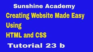 إنشاء موقع HTML& Css التعليمي 23 ب