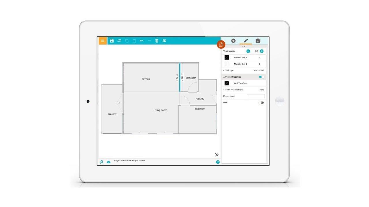 wände und räume zeichnen - raumplaner app (tablet) - youtube