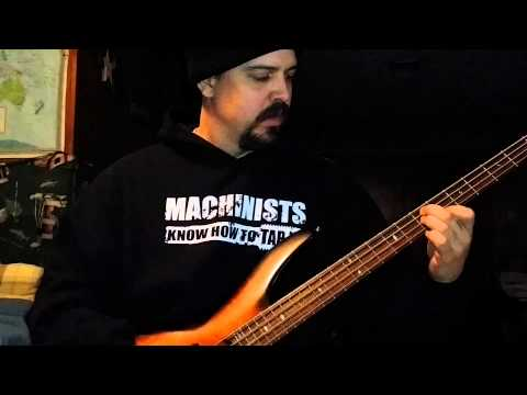 Overkill - Bastard Nation bass intro cover