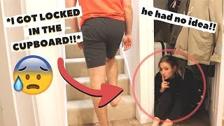 HIDING IN MY FIANCÈ'S HOUSE FOR THE NIGHT (our house)... GONE WRONG!!