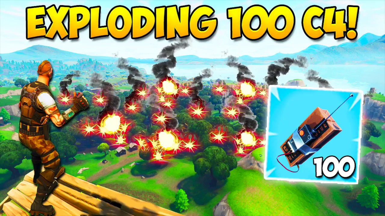 exploding 100 c4 what happens fortnite funny fails and wtf moments 222 daily moments bcc trolling - bcc trolling fortnite new videos