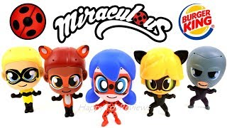 BURGER KING MIRACULOUS LADYBUG KIDS MEAL TOYS FULL SET STOP MOTION CAT NOIR HAWK MOTH QUEEN BEE 2018
