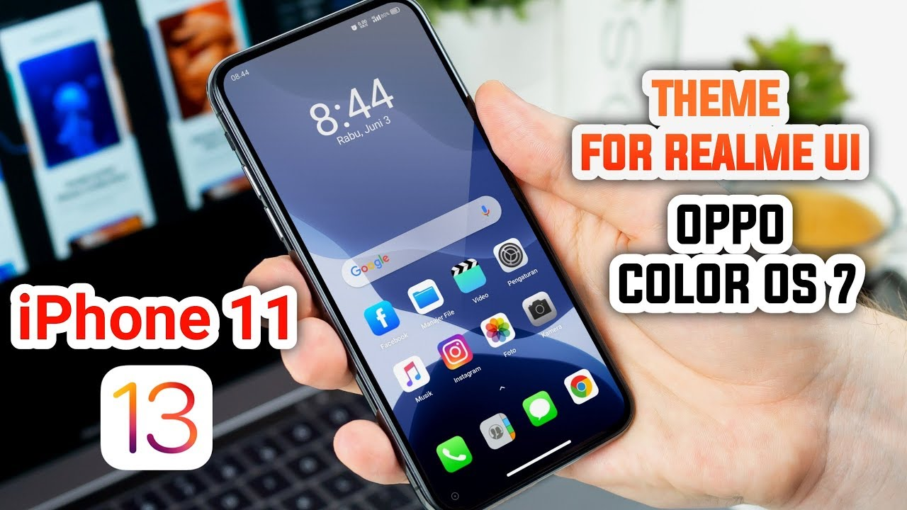 Best Theme iOS 13 - iPhone 11 Theme For Realme UI & Oppo Color OS 7