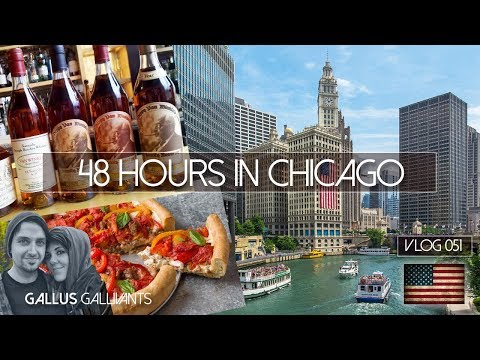 CHICAGO - 48 HOURS, RIVER TOUR,  PAPPY VAN WINKLES & DEEP DISH PIZZA  - VLOG 51