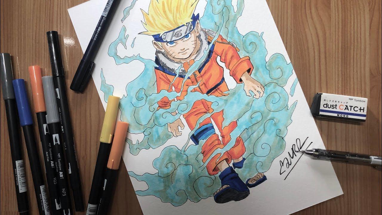 Cách vẽ Naruto (how to draw Drawing Naruto Uzumaki)