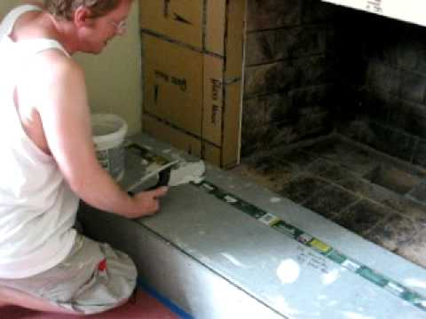 Laying Tile On Fireplace Youtube
