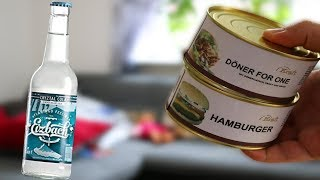 Döner & Hamburger aus der Dose + Durchsichtige Coca Cola im Test