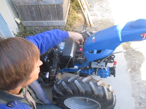 Walk-behind tractor with Diesel engine - electrical system ...