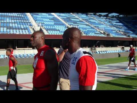 The American Flag Football League - TO and Ochocinco Talk Trash