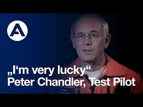 """Test pilot Peter Chandler: """"I'm very lucky"""""""