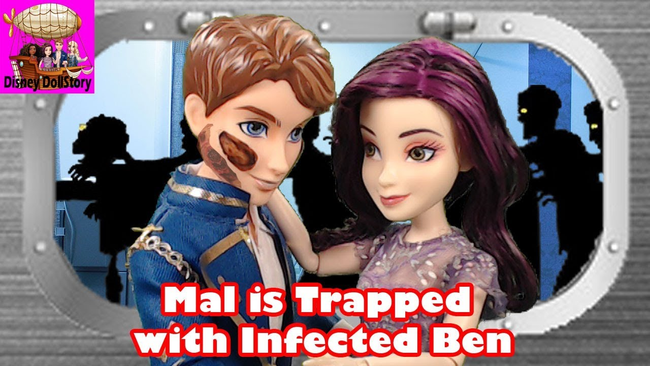 Mal is Trapped with Infected Ben - Part 4 - Zombie Outbreak Descendants  Project MC2 Disney