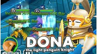 summoners war dona the light penguin knight dragons test