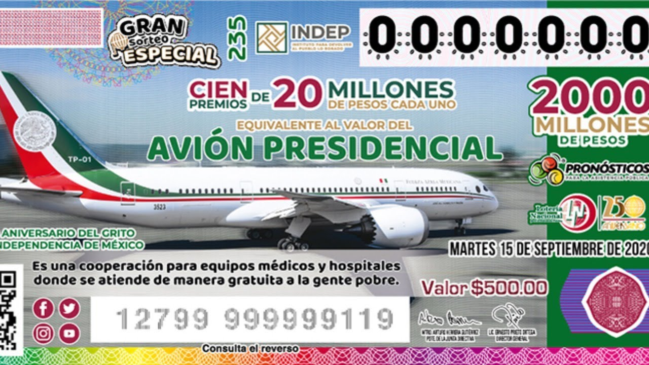 Sigue aquí la rifa del avión presidencial