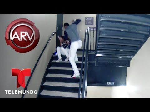 Captan en cámara a pelotero golpeando salvajemente a su novia | Al Rojo Vivo | Telemundo