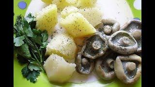 Грузди | Салат из груздей с картофелем.