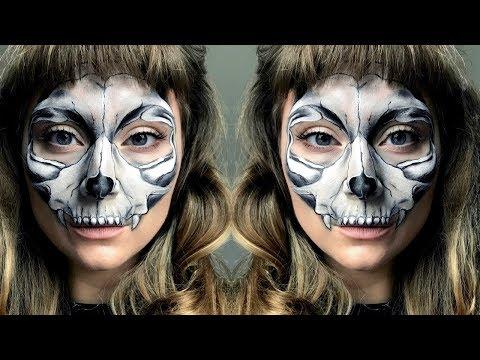 Cat Skull Halloween Makeup Tutorial thumbnail